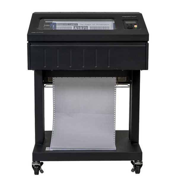 Imprimante P8000 avec piédestal ouvert