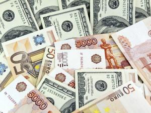 Dólares, rublos e euro